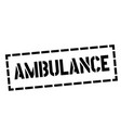 ambulance stamp on white vector image vector image