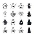 apron cooking chef icons set simple style vector image
