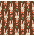 Baby background in with bunnies vector image