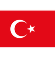 background of turkey flag Original proportions and vector image