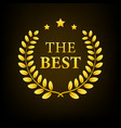 best seller badge seller isolated badge vector image vector image