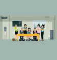 business coworkers vector image