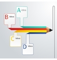 Business education pencil infographics option vector image vector image