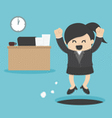 business Woman sneak out job vector image vector image