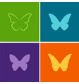 butterfly logos vector image vector image