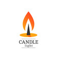candle light logo vector image vector image