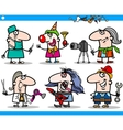 cartoon people occupations characters set vector image vector image