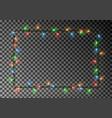 christmas lights border light string frame vector image vector image