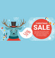 christmas sale offers promotion with cartoon cute vector image vector image