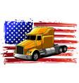 classic american truck design vector image