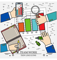 Concepts for business analysis and planning consul vector image vector image