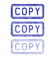 copy stamp blue collection vector image