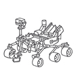 Curiosity the Marsrover vector image