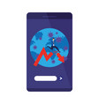 earth planet covid19 in smartphone vector image vector image