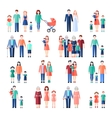 Family Flat Images Set vector image vector image