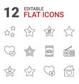favorite icons vector image vector image