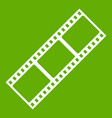 film strip icon green vector image vector image