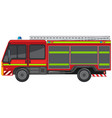 fire engine on white background vector image vector image