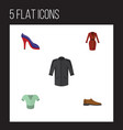 flat icon clothes set of uniform male footware vector image vector image