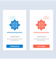 flower decoration china chinese blue and red vector image