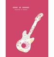 folk floral circles abstract guitar music vector image