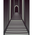 Gothic Stairs Interior2 vector image vector image