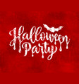 halloween party poster hand drawn lettering on vector image