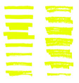 highlighter brush lines hand drawing vector image vector image