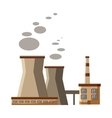 Industrial plant with pipes icon cartoon style vector image vector image