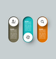 infographic 3d long circle label infographic vector image vector image