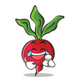 joy radish character cartoon collection vector image vector image