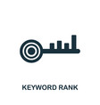 keyword rank icon symbol creative sign from seo vector image