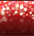 lights on red background shimmering colored vector image vector image