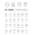 line icons international tolerance day vector image
