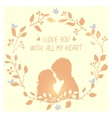 love wreath vector image vector image