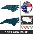 map north carolina us vector image vector image