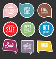 modern sale stickers and tags collection vector image vector image