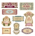 Ornate vintage labels in style Art Nouveau vector image