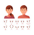 people cartoon avatars set girl and boy vector image vector image