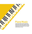 piano on a yellow background vector image vector image