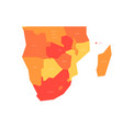 political map of southern africa region simlified vector image vector image