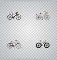 realistic hybrid velocipede journey bike brand vector image vector image