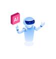 robotics icon vector image vector image