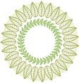 round flower frame vector image vector image