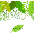 seamless floral border with stylized green leaves vector image vector image