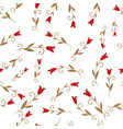 seamless pattern of stylized lilies or tulips on vector image vector image