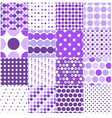 seamless retro dot pattern print vector image vector image