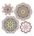 set kaleidoscopic floral pattern vector image vector image