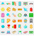 shopping icons set cartoon style vector image vector image