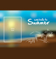 summer card on blurred background vector image